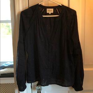 Sezane peasant blouse